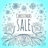 white för shopping för försäljning för bakgrundsjulflicka lycklig Snöflingor och vinterblommor Fotografering för Bildbyråer