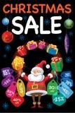 white för shopping för försäljning för bakgrundsjulflicka lycklig Royaltyfri Bild