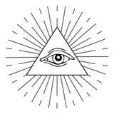 white för sköld för bakgrundsögonprovidence vektor illustrationer