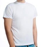 white för skjorta t Fotografering för Bildbyråer
