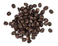white för skugga för bakgrundsbönor kaffe isolerad grillad Royaltyfri Fotografi