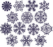 white för snowflakes v1 stock illustrationer