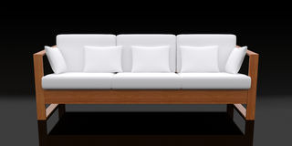 white för sofa 3d Royaltyfria Foton