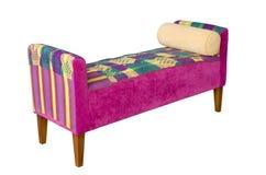 white för sofa för bakgrundstygpink Royaltyfri Foto