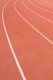 white för spår för running start för bakgrund röd Royaltyfria Bilder