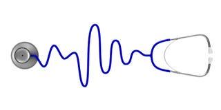 white för stetoskop för bakgrundsdoktorsinstrument Isolerad illustration 3d Royaltyfri Bild