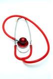 white för stetoskop för bakgrundsdoktorsinstrument Arkivbild