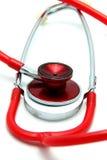 white för stetoskop för bakgrundsdoktorsinstrument Royaltyfri Bild