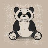 white för stil för panda för illustration för bakgrundsbjörntecknad film Royaltyfri Foto