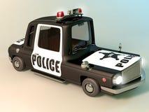 white för stil för polis för bilcartoonish bild isolerad Royaltyfri Bild