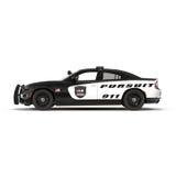 white för stil för polis för bilcartoonish bild isolerad Sport och modern stil Isolerat på den vita illustrationen 3D Royaltyfria Bilder