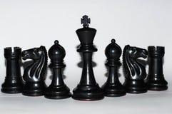 white för strategi för bakgrundsbrädeschack Royaltyfri Bild