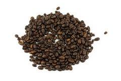 white för studio för bakgrundsbönor kaffe isolerad skjuten Arkivfoton