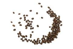 white för studio för bakgrundsbönor kaffe isolerad skjuten isolerade den täta hörlurarbilden för black slapp övre white för mikro Arkivbild