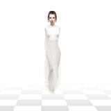 white för studio för schackimpersionationdrottning Arkivfoton