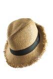 white för sugrör för bana för bakgrundsclipping hatt isolerad Arkivfoto