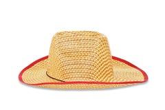 white för sugrör för bana för bakgrundsclipping hatt isolerad Royaltyfri Fotografi
