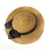 white för sugrör för bana för bakgrundsclipping hatt isolerad Royaltyfri Bild