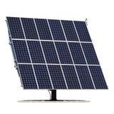 white för sun för panel för energi hand isolerad sol- Arkivbild