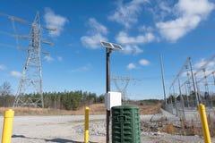white för sun för panel för energi hand isolerad sol- Royaltyfri Bild