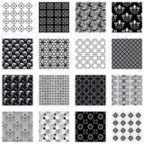 white för svart samling för bakgrunder seamless stock illustrationer