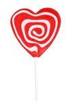 white för swirl för form för hjärtaklubba röd Arkivfoton