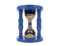 white för tid för bakgrundsbegrepp timglas isolerad Royaltyfri Foto