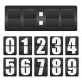 white för tidmätare för illustration för bakgrundsnedräkningdesign Mekaniskt funktionskortmellanrum med nummer från noll till nio vektor illustrationer