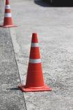 white för trafik för kottar för bakgrund 3d bild isolerad Arkivfoto