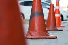 white för trafik för kottar för bakgrund 3d bild isolerad Royaltyfria Bilder