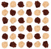 white för tryffel för mandelchoklad mörk arkivbild