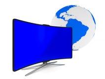 white för tv för bild för bakgrund 3d isolerad 3d Fotografering för Bildbyråer