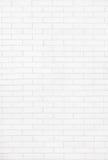 white för vägg för bakgrundstegelstentextur Arkivbild