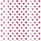white för valentin för bakgrundshjärtor röd Arkivfoto