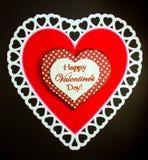white för valentin för lyckliga hjärtor röd s för dag Arkivfoto