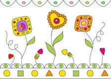 white för vektor för härliga blommor för bakgrund seamless Arkivfoto
