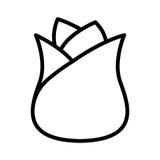 white för vektor för illustration för bakgrundsblommasymbol set Royaltyfri Foto