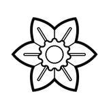 white för vektor för illustration för bakgrundsblommasymbol set Royaltyfria Foton