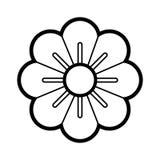 white för vektor för illustration för bakgrundsblommasymbol set Arkivfoton