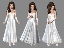 white för vektor för klänningillustrationprincess Royaltyfria Foton