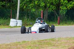 White f1 car in srilanka Royalty Free Stock Photos