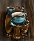 white f?r morgon f?r kappa f?r flicka f?r dressing f?r kaffekopp stock illustrationer