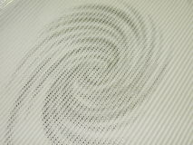 White fabric. Texture with silver design Royalty Free Stock Photography