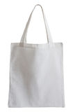 White fabric bag isolated on white Stock Photography