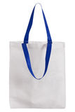 White fabric bag isolated on white Royalty Free Stock Images