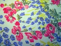 White fabric with beautiful flowers stock photo