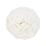 White fabric blossom rose Royalty Free Stock Photo