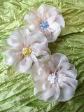 White fabric flower Royalty Free Stock Photo