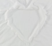 White fabric heart shape. Royalty Free Stock Photos