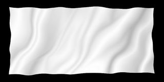 White fabric isolated on black background. With copy space Royalty Free Stock Photography